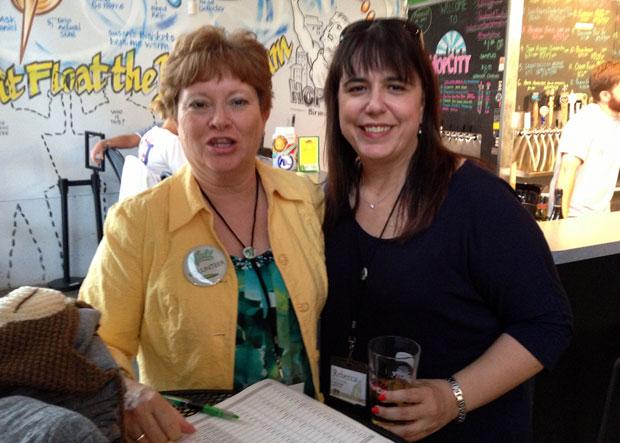 volunteers Deb Krier, Rebecca Dobrinski