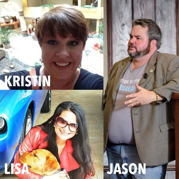 Kristin T. Scroggin, Lisa Caprelli, Jason Falls